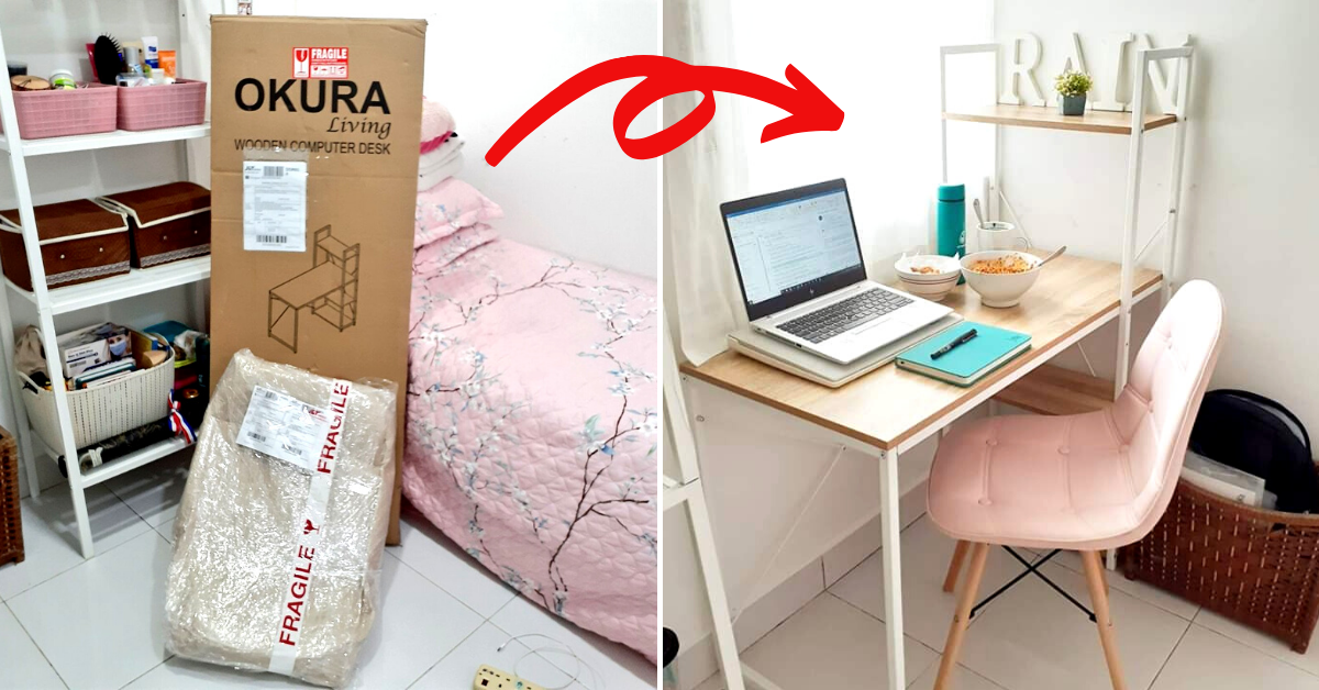 Photo of Malaysian Transforms Her Bedroom Into A Mini Office To Work From Home During MCO