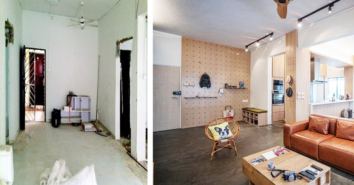 Photo of This Makeover Of A 1,033sq-ft Auctioned Apartment Into An Industrial Living Space Is Incredible