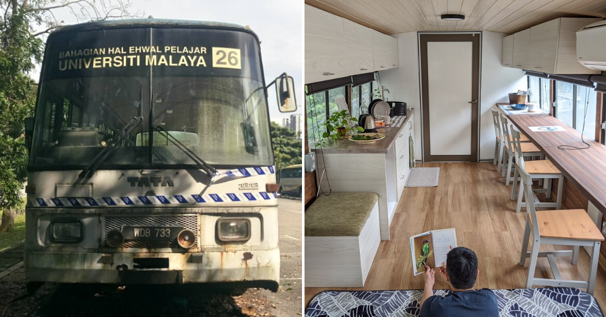 Photo of Look At How This Old UM School Bus Is Converted To A Lovely Airbnb In KL